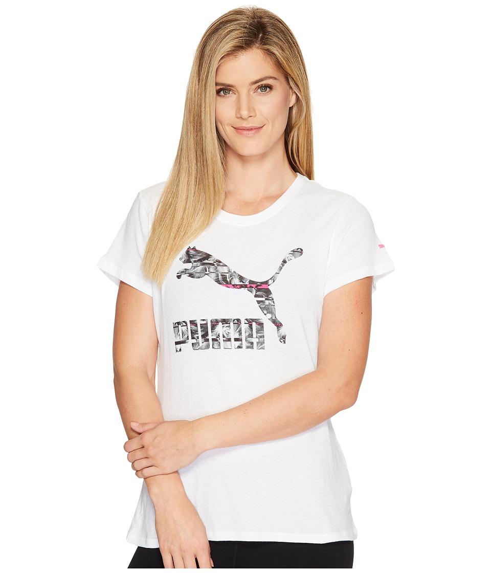 PUMA - Archive Logo Swan Tee (Puma White/Ultra Magenta) Women's T Shirt
