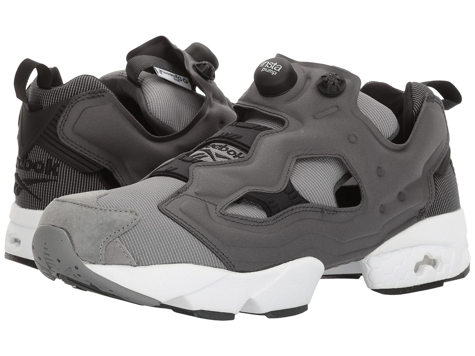 Reebok - Instapump Fury Tech (Black/Dark Grey Heather Solid Grey/Foggy Grey) Men's Cross Training Shoes
