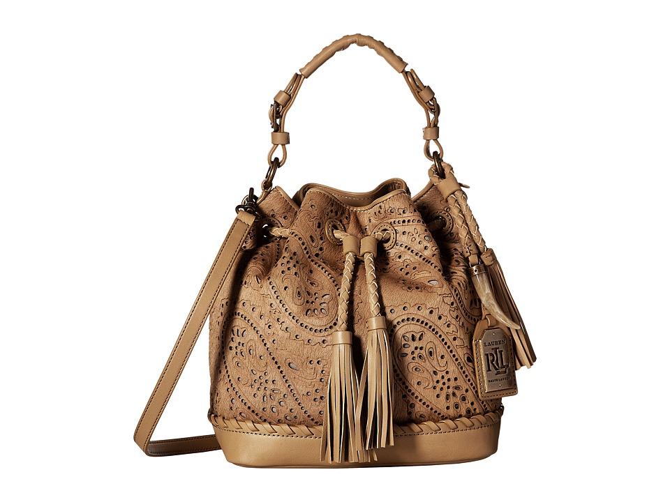 LAUREN Ralph Lauren - Clayton Cayla Drawstring Medium (Palomino) Drawstring Handbags