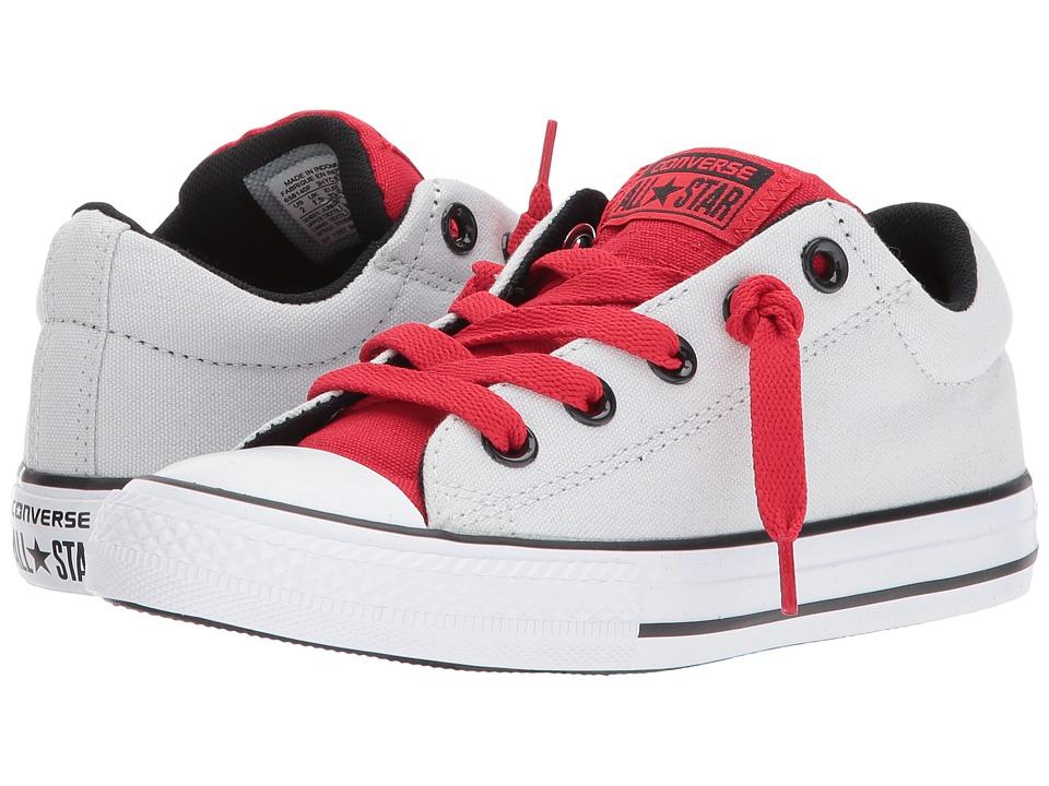 Converse Kids Chuck Taylor All Star Street Slip (Little Kid/Big Kid) (Pure Platinum/Casino/Black) Boys Shoes