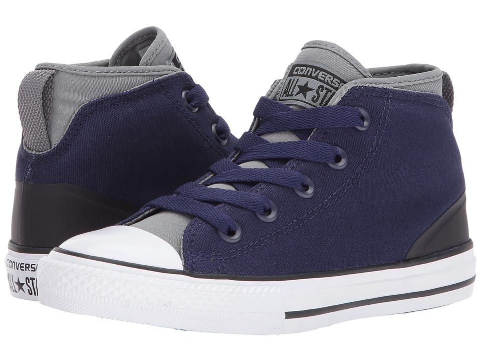 Converse Kids Chuck Taylor All Star Syde Street Mid (Little Kid/Big Kid) (Midnight Indigo/Cool Grey) Boys Shoes