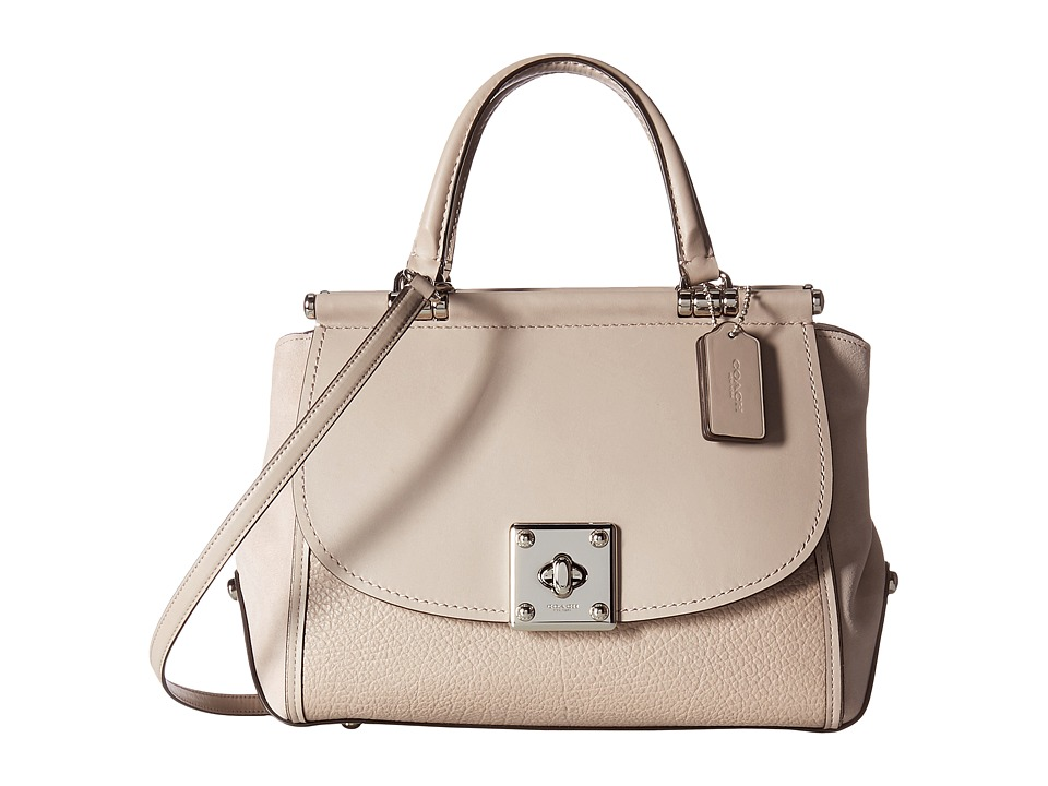 COACH - Mixed Leather Drifter Carryall (Grey Birch) Handbags