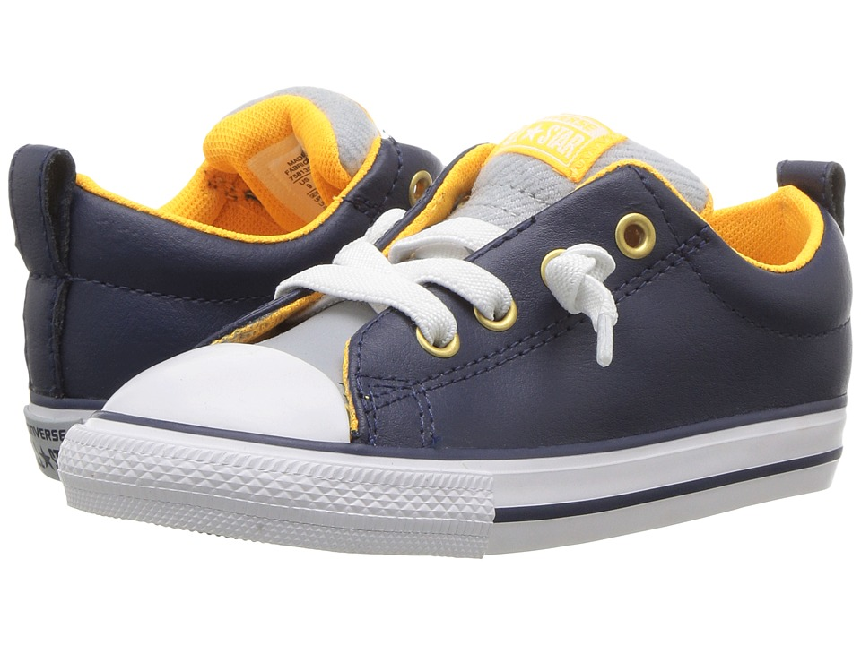 Converse Kids Chuck Taylor All Star Street Slip (Infant/Toddler) (Midnight Navy/Wolf Grey/White) Boys Shoes