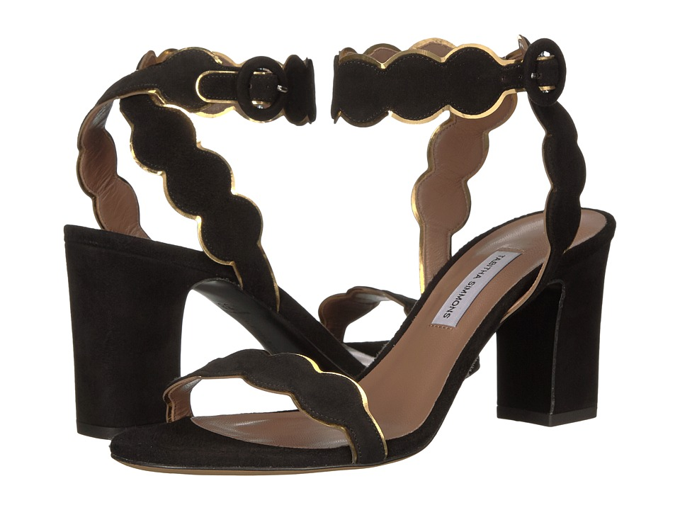 Tabitha Simmons - Cloud (Black Kid Suede/Gold Metallic Mir Calf) High Heels