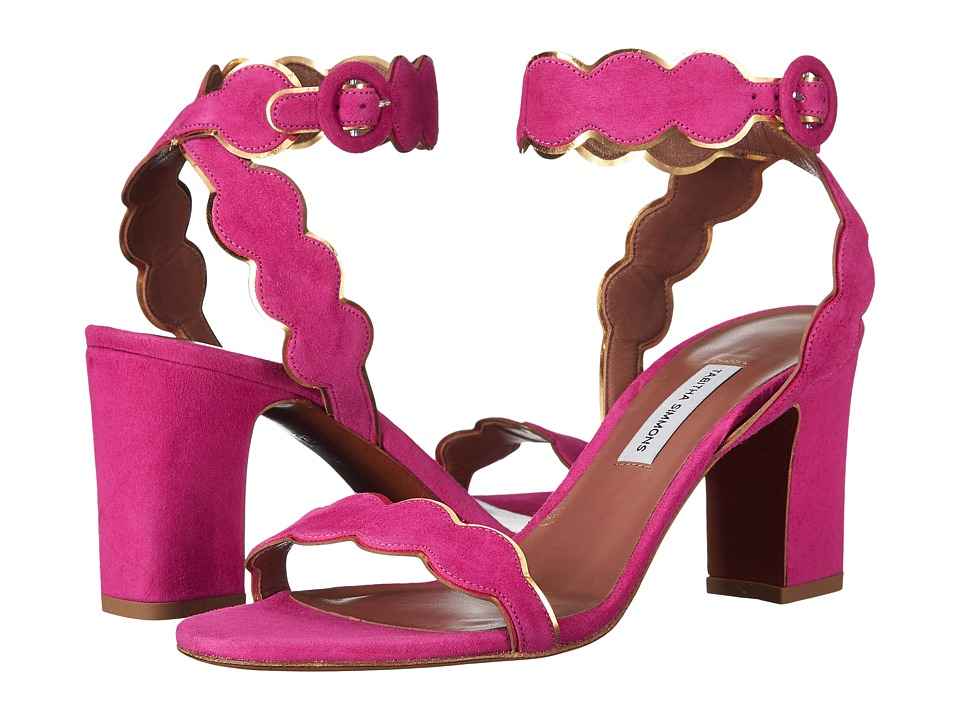 Tabitha Simmons - Cloud (Fuchsia Kid Suede/Gold Metallic Mir Calf) High Heels