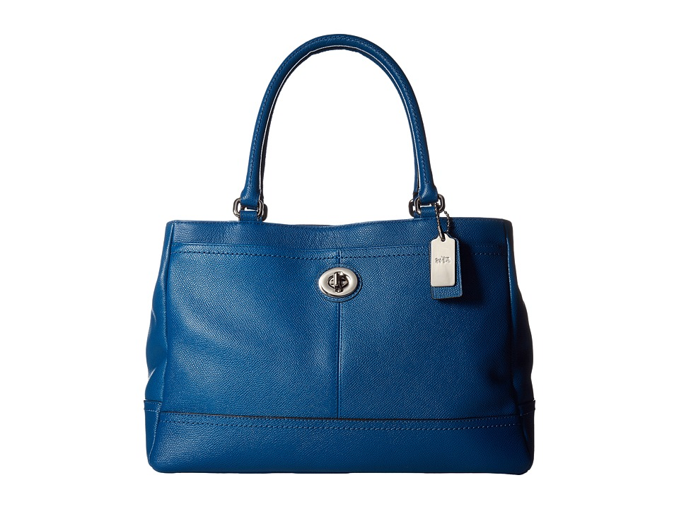 COACH - Park Leather Carryall E (SV/Denim) Handbags