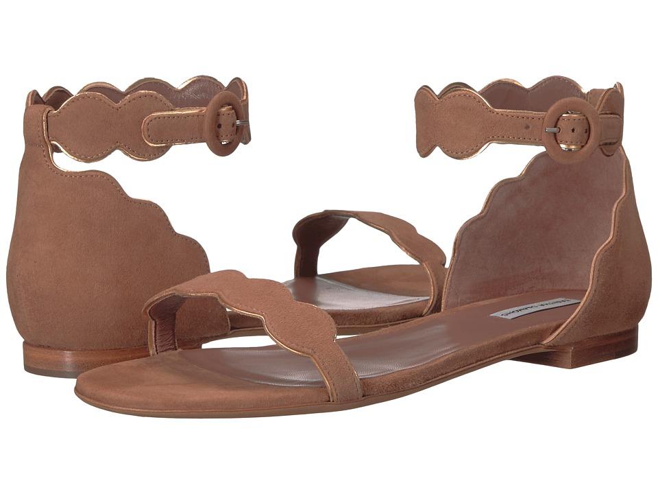 Tabitha Simmons - Pearl (Sand Kid Suede/Gold Metallic Mir Calf) Women's 1-2 inch heel Shoes