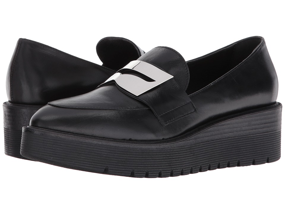 LFL by Lust For Life - Tilt (Black Leather) Women's Slip-on Dress Shoes