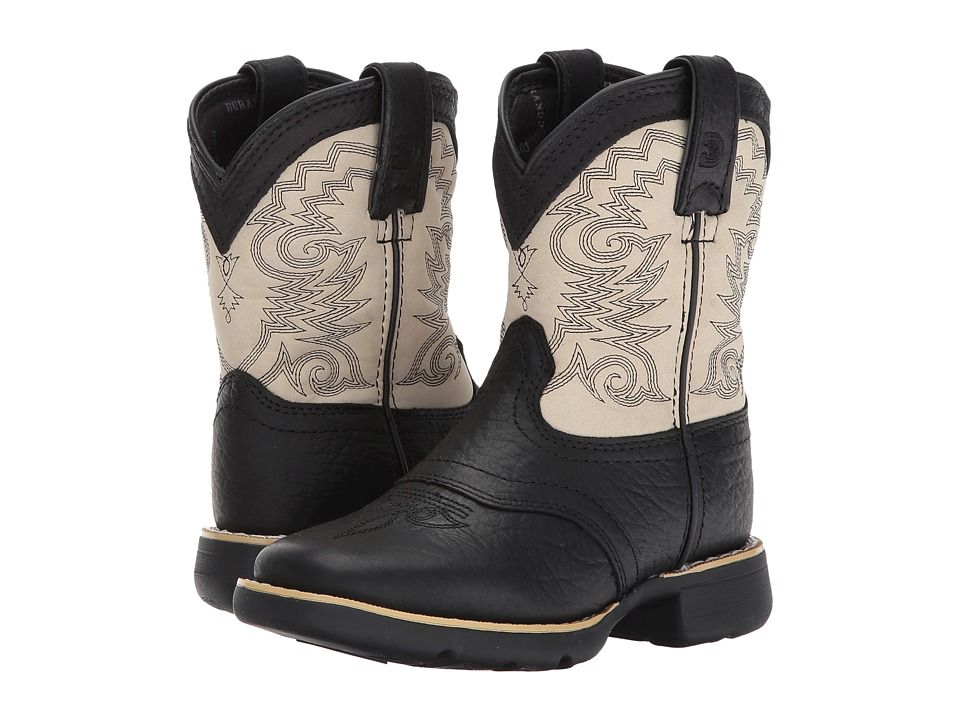 Durango Kids - Lil' Durango 7 Saddle (Toddler/Little Kid) (Black/Cream) Kids Shoes