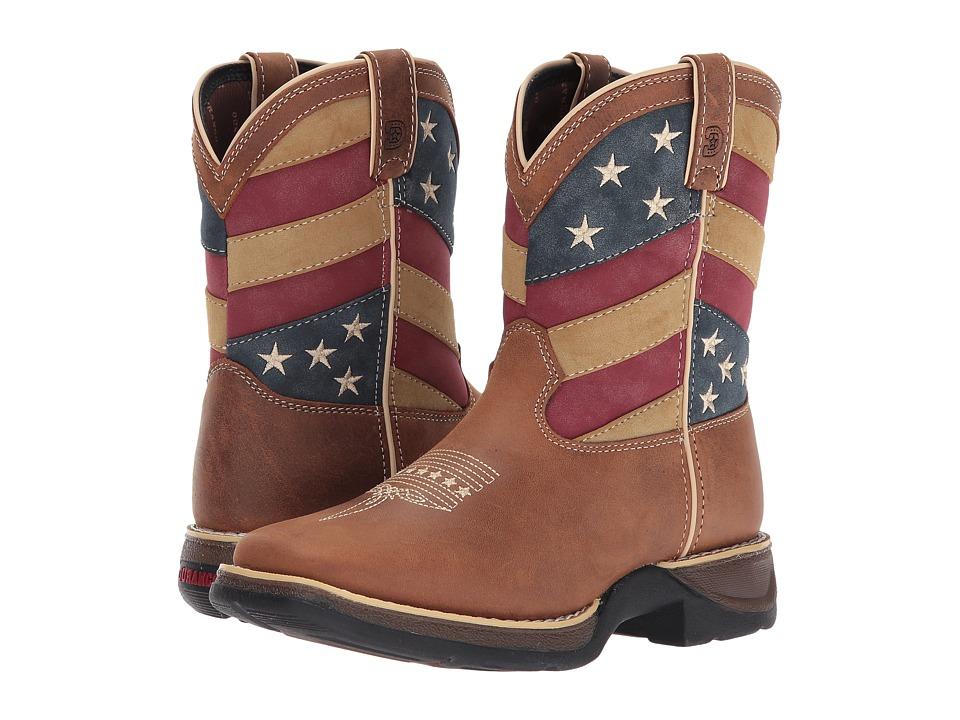 Durango Kids - Lil Rebel 7 Patriotic Western (Toddler/Little Kid) (Brown/Patriotic) Kids Shoes