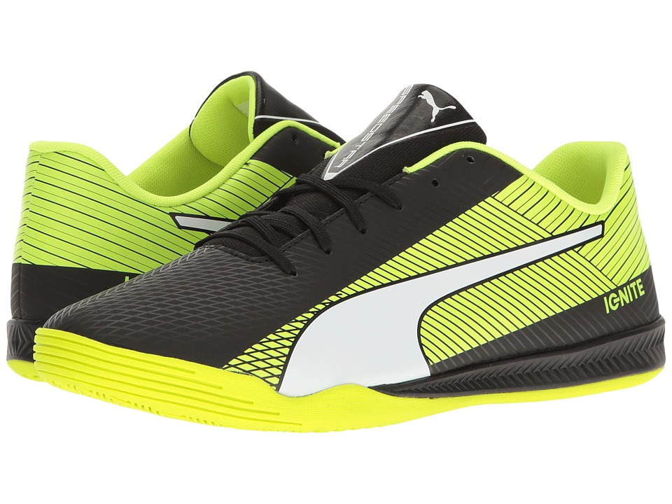 PUMA - evoSPEED Star S Ignite (Puma Black/Puma White/Safety Yellow) Men's Shoes
