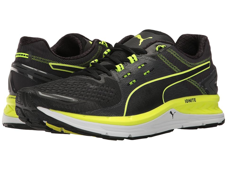 PUMA - Speed 1000 S Ignite (Puma Black/Asphalt/Safety Yellow) Men's Shoes