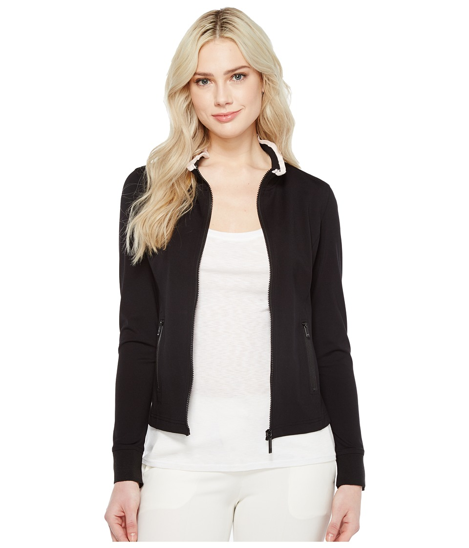 Ivanka Trump - Ruffle Collar Zip-Up (Black/Blush) Women's Jacket