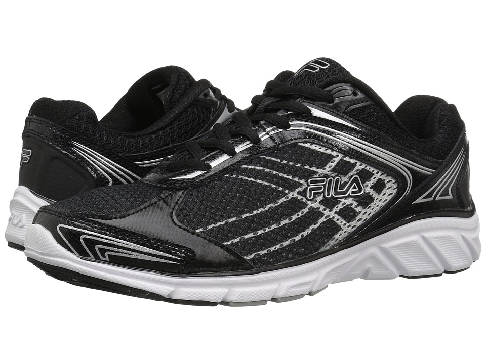 Fila - Memory Narrow Escape (Black/Black/Metallic Silver) Men's Shoes