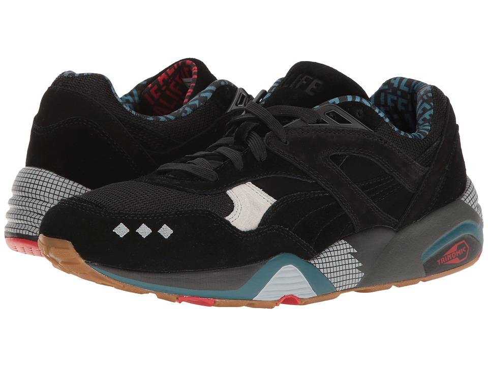 PUMA - R698 X Alife (Black/Glacier Gray) Men's Shoes