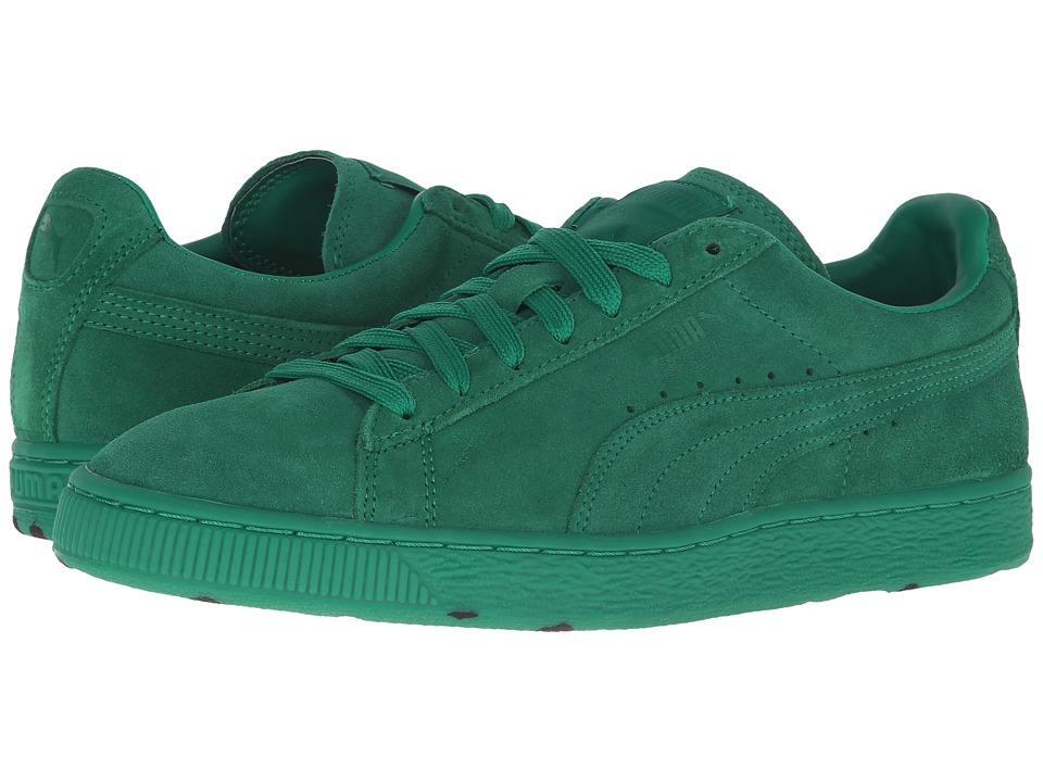 PUMA - Suede A Camo (Ultramarine Green/White) Men's Shoes