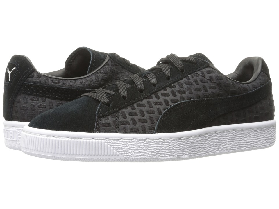 PUMA - Suede Classic Emboss V2 (PUMA Black) Men's Shoes