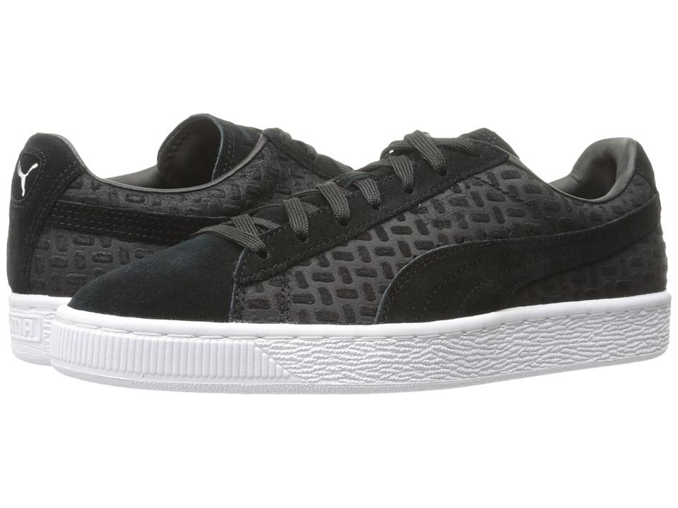 PUMA - Suede Classic Emboss V2 (PUMA Black) Men's Shoes