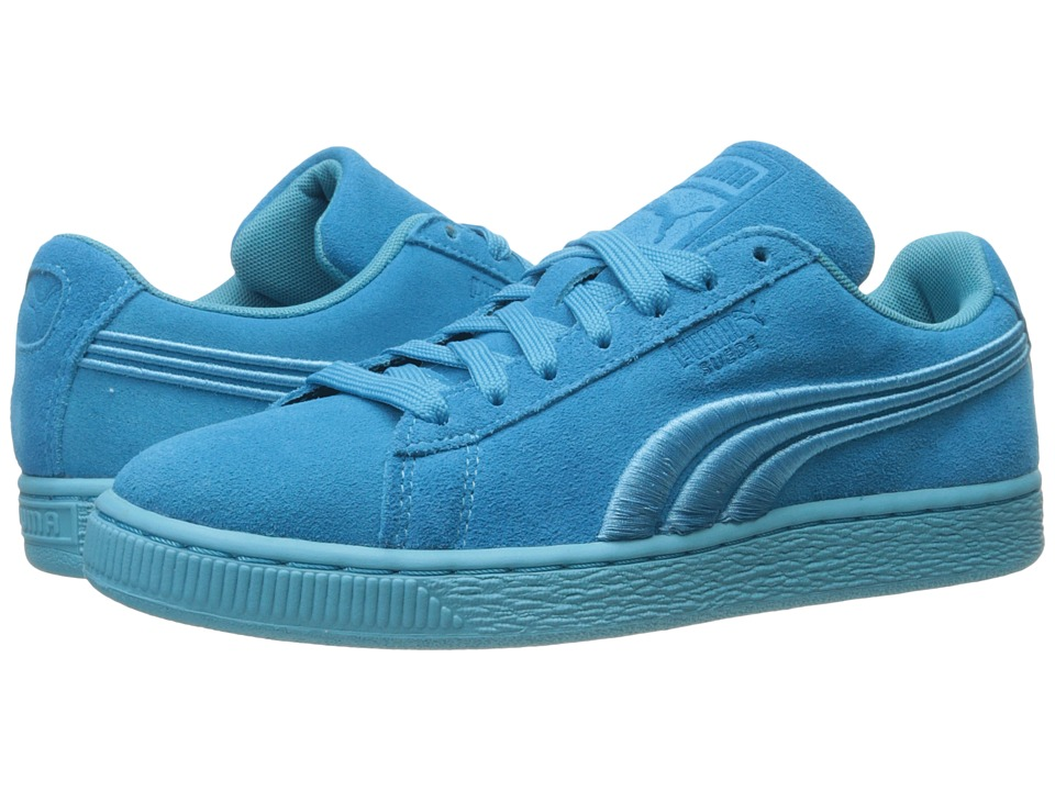 PUMA - Suede Classic Badge (Blue Atoll) Men's Shoes