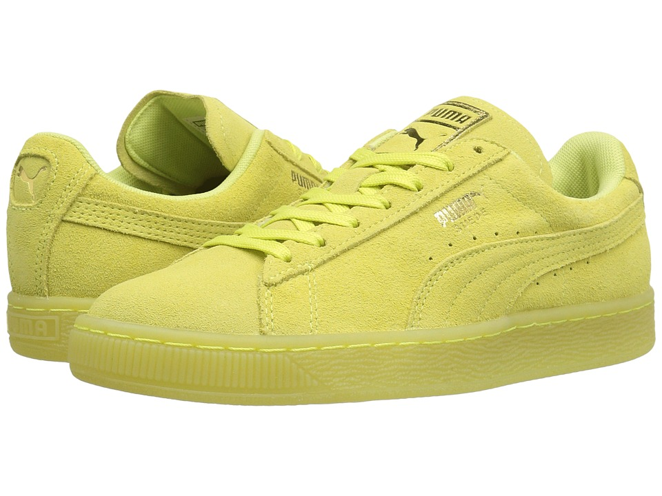 PUMA - Suede Classic Iced (Soft Fluo Yellow/Gold) Women's Shoes