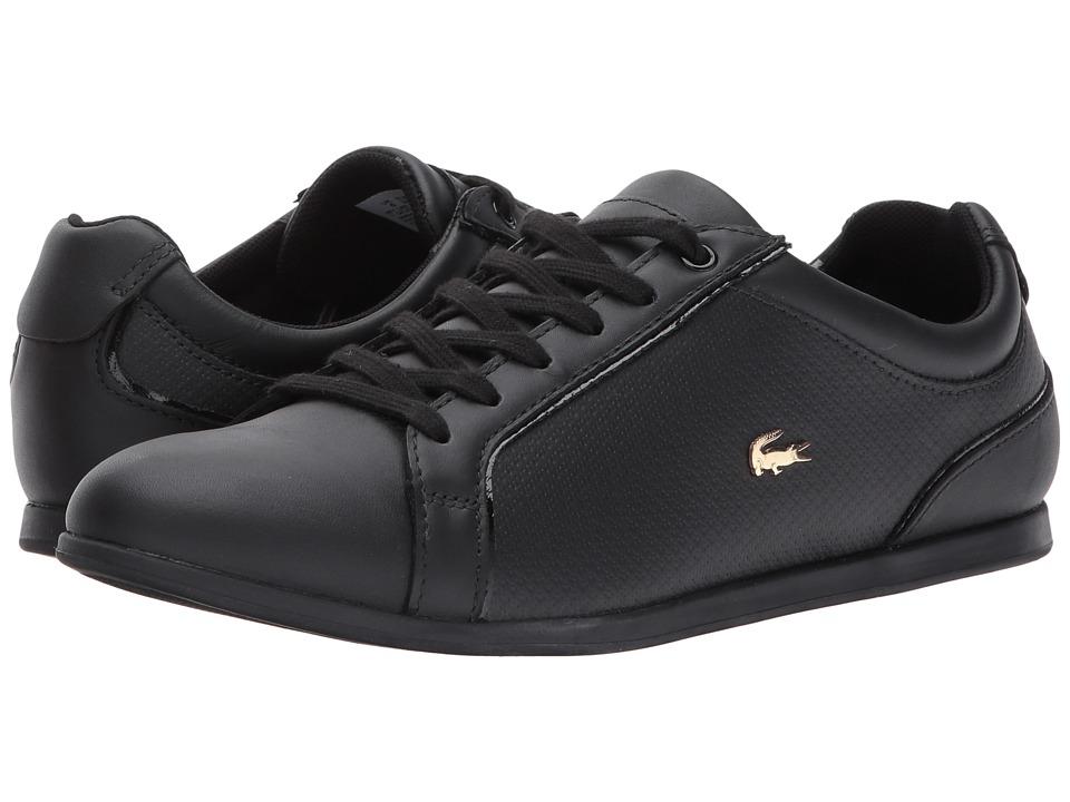 Lacoste - Rey Lace 317 1 (Black) Women's Shoes