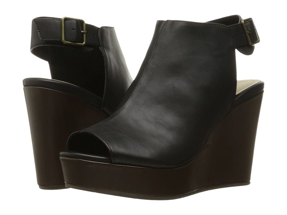 Kenneth Cole Unlisted - Over Time (Black Synthetic) Women's Wedge Shoes