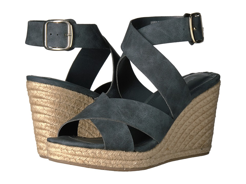 Kenneth Cole Unlisted - Over There (Blue Synthetic) Women's Wedge Shoes