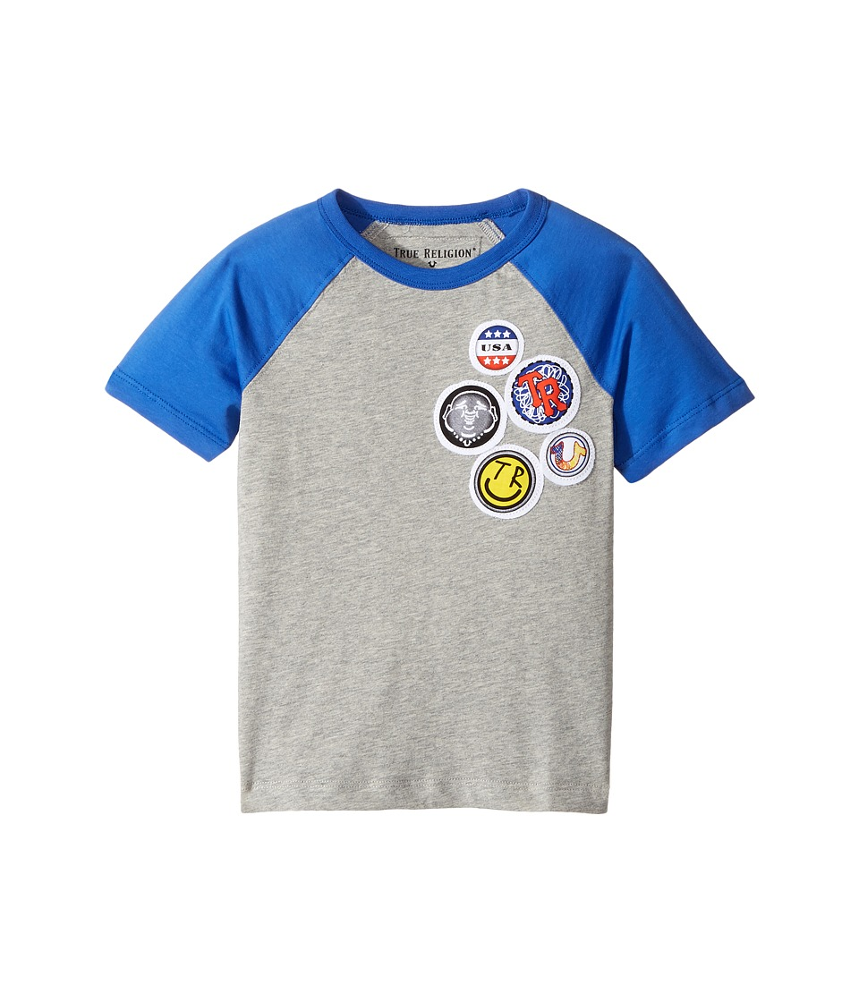True Religion Kids - Patches Logo Tee Shirt (Toddler/Little Kids) (Heather Grey) Boy's T Shirt