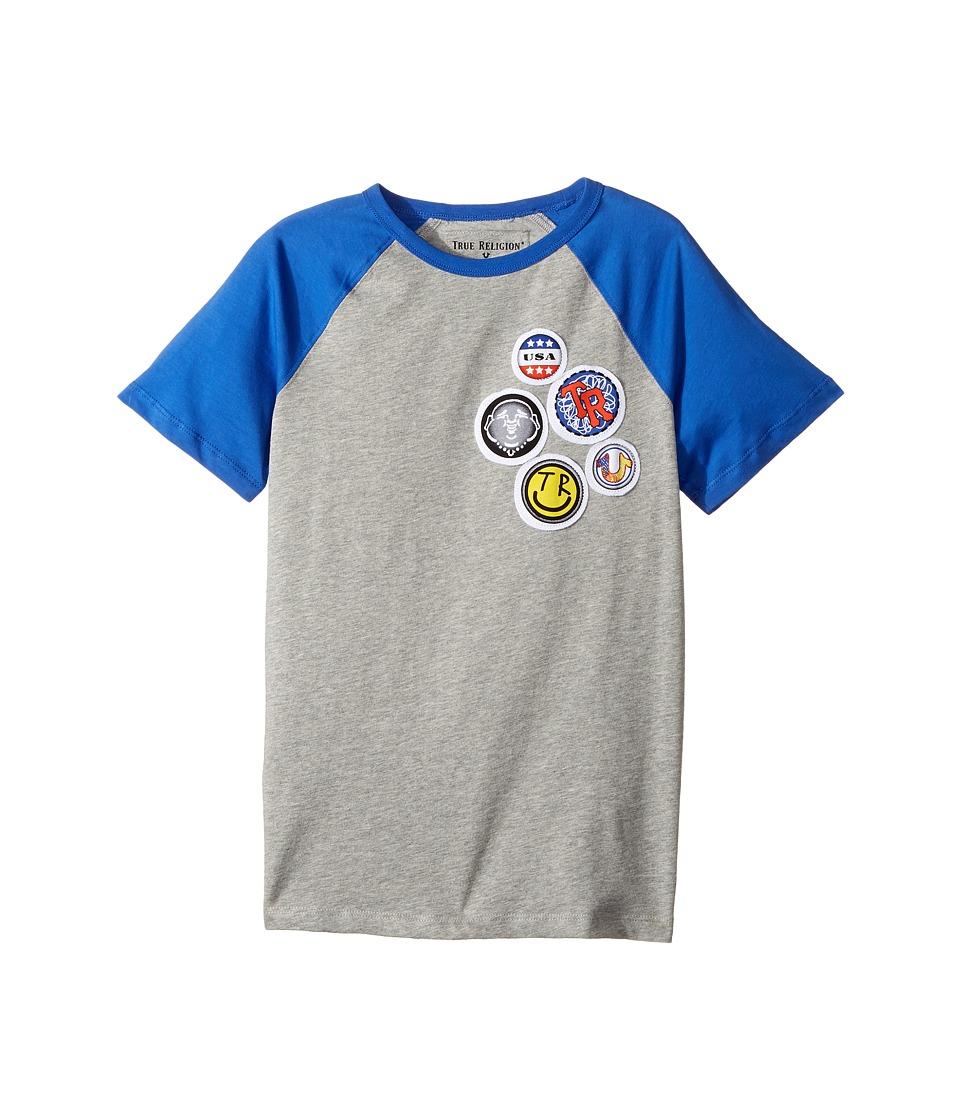 True Religion Kids - Patches Logo Tee Shirt (Big Kids) (Heather Grey) Boy's T Shirt