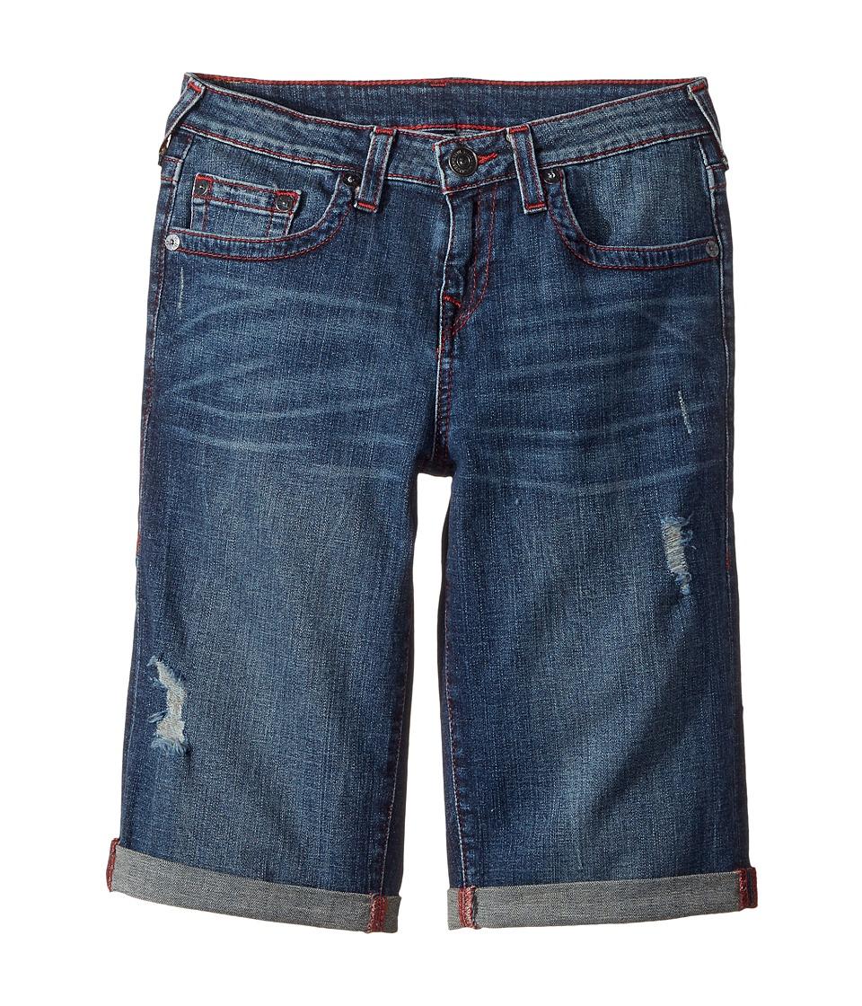 True Religion Kids - Geno Shorts (Big Kids) (Indigo Mix) Boy's Shorts
