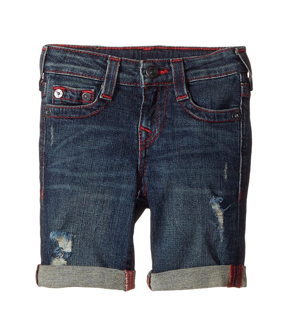 True Religion Kids - Geno Shorts (Toddler/Little Kids) (Indigo Mix) Boy's Shorts