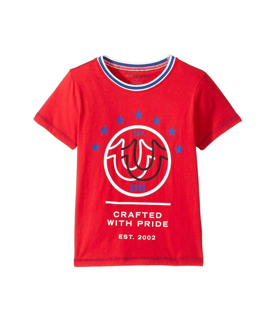 True Religion Kids - Retro T-Shirt (Toddler/Little Kids) (Bright Red) Boy's T Shirt