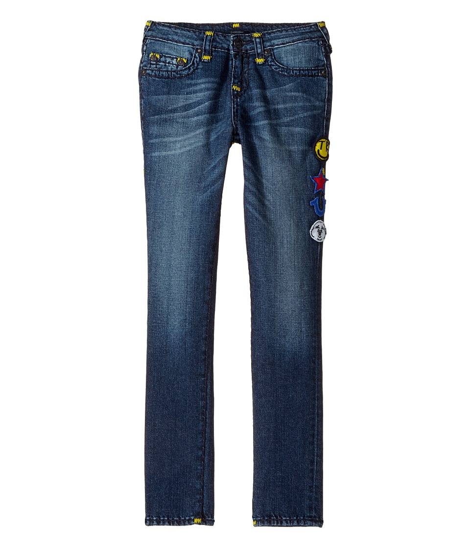 True Religion Kids - Tony Jeans with Patches in Rustic Indigo (Big Kids) (Rustic Indigo) Boy's Jeans