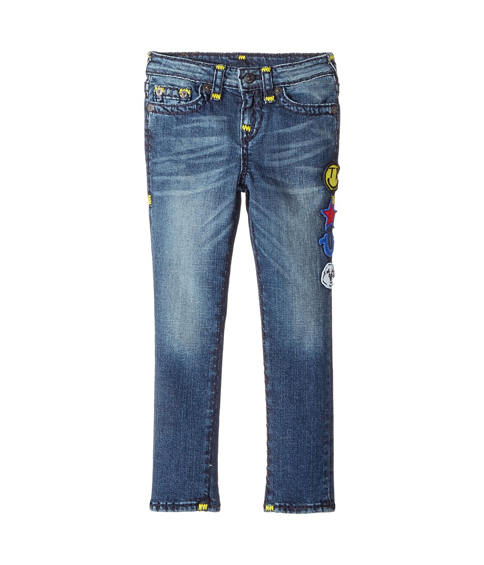 True Religion Kids - Tony Jeans with Patches in Rustic Indigo (Toddler/Little Kids) (Rustic Indigo) Boy's Jeans