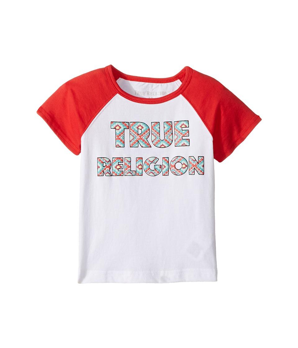 True Religion Kids - Raglan T-Shirt (Toddler/Little Kids) (White) Girl's T Shirt