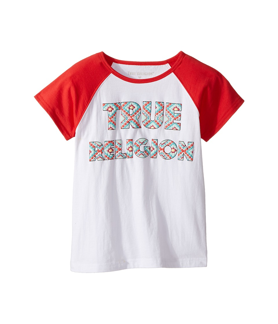 True Religion Kids - Raglan T-Shirt (Big Kids) (White) Girl's T Shirt