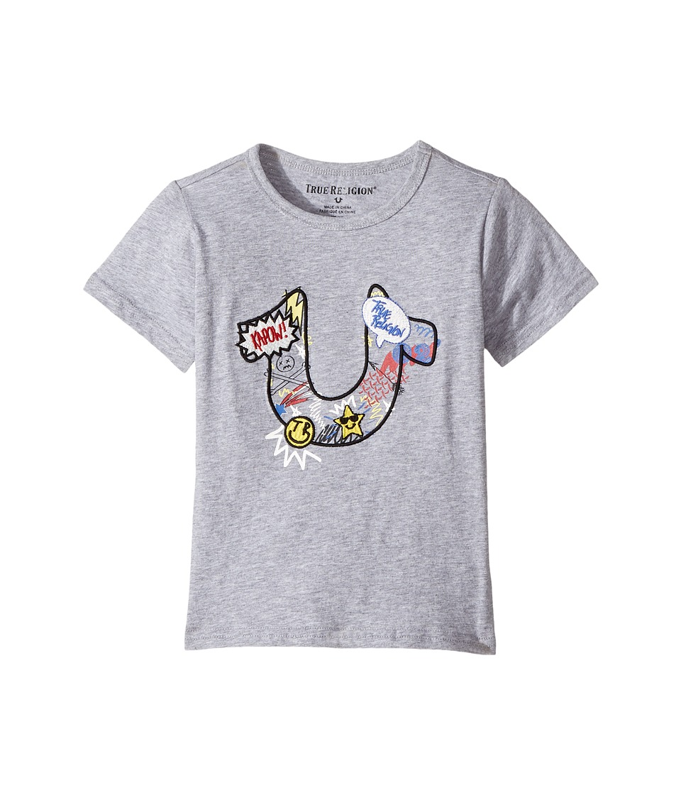 True Religion Kids - Doodle Tee Shirt (Toddler/Little Kids) (Heather Grey) Boy's T Shirt