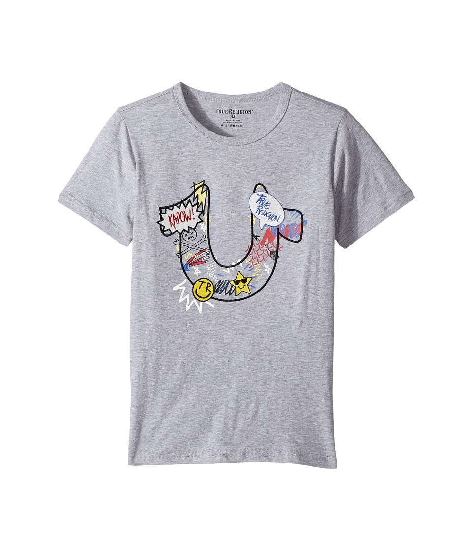 True Religion Kids - Doodle Tee Shirt (Big Kids) (Heather Grey) Boy's T Shirt