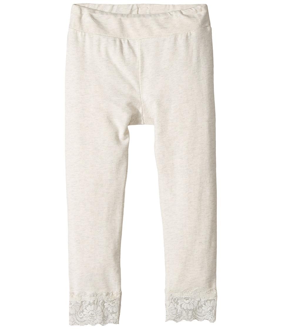 Splendid Littles - Seasonal Basics Leggings with Lace Bottom (Toddler) (Light Grey) Girl's Casual Pants