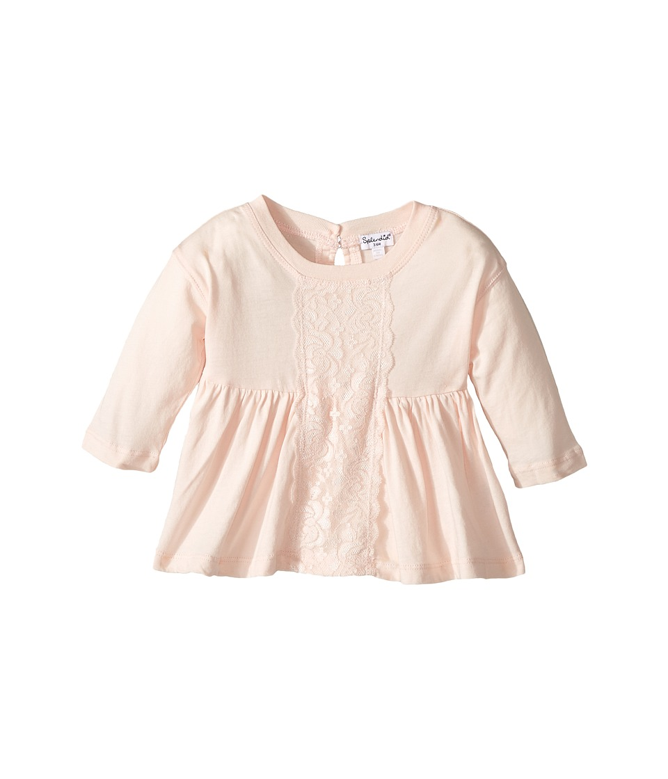 Splendid Littles - Long Sleeve Top with Lace Insert (Infant) (Light Pink) Girl's Clothing