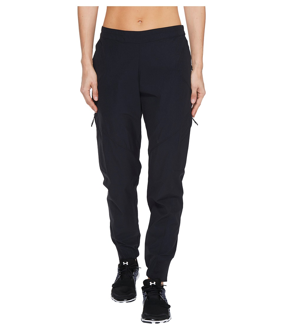 Under Armour - Woven Cargo Jogger (Black) Women's Casual Pants