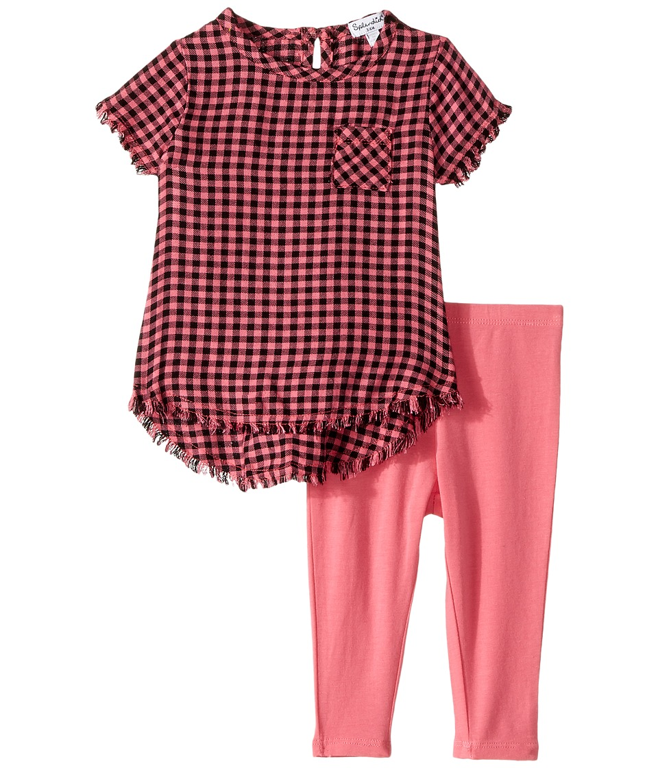 Splendid Littles - Yarn-Dyed Plaid Swing Top with Leggings Set (Infant) (Check) Girl's Active Sets