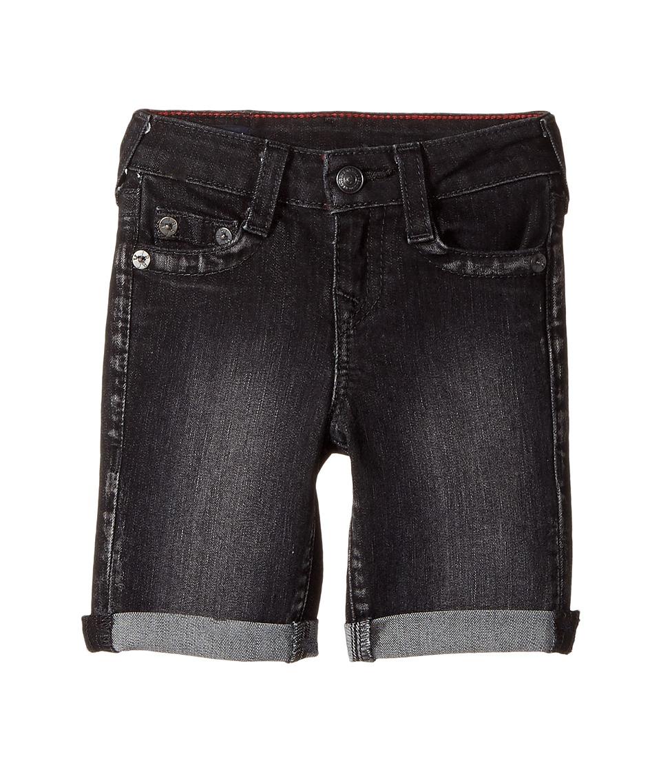 True Religion Kids - Geno Shorts (Toddler/Little Kids) (Smoky Black) Boy's Shorts