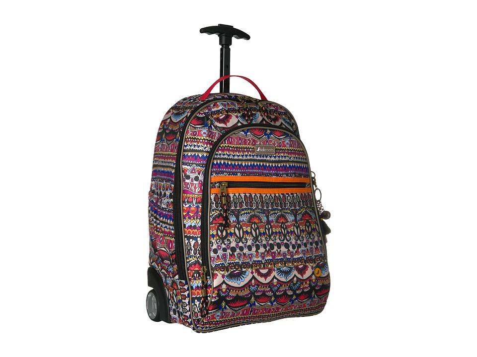 Sakroots York Rolling Backpack (Camel One World) Backpack Bags