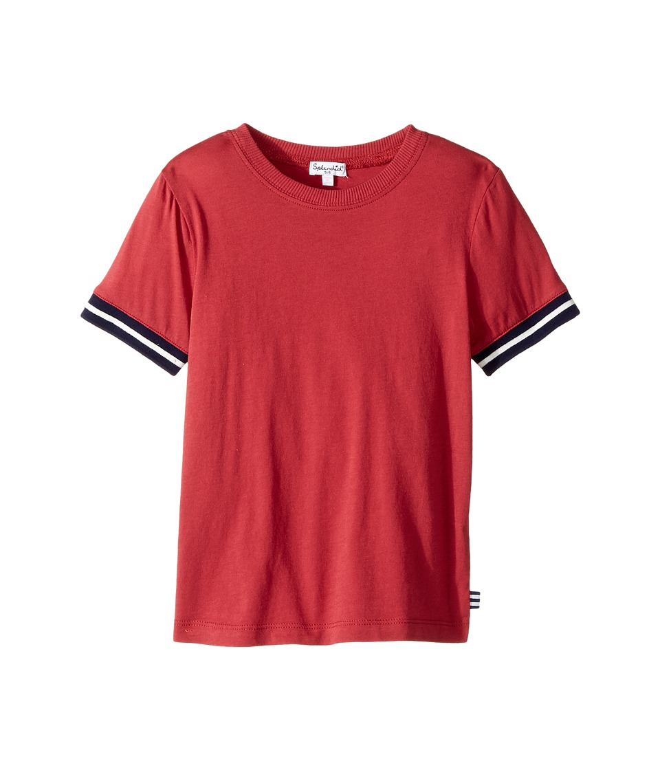 Splendid Littles - Short Sleeve Tee with Stripe Trim (Little Kids/Big Kids) (Red) Boy's T Shirt