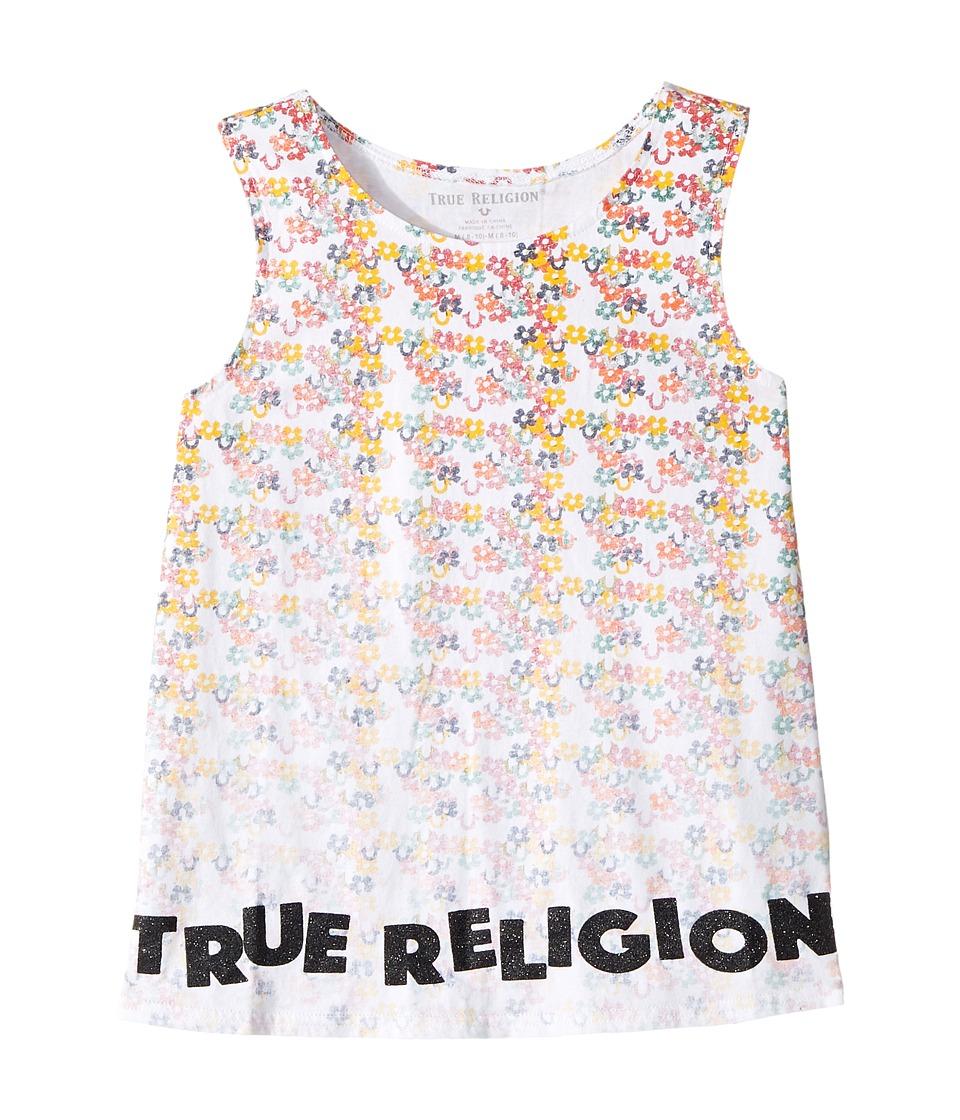 True Religion Kids - Sponge Flower Tank Top (Big Kids) (White) Girl's Sleeveless