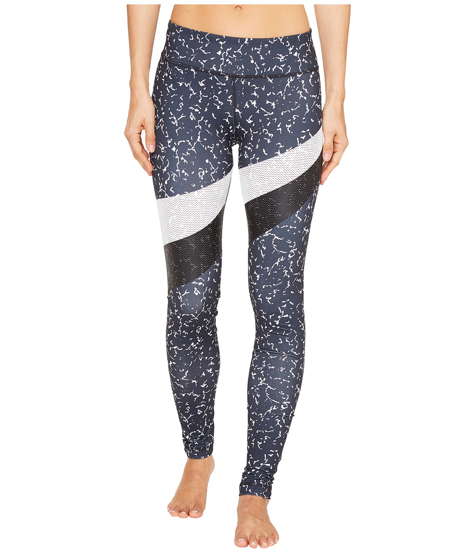 Under Armour - Mirror Marble Stripe Leggings (Black) Women's Casual Pants