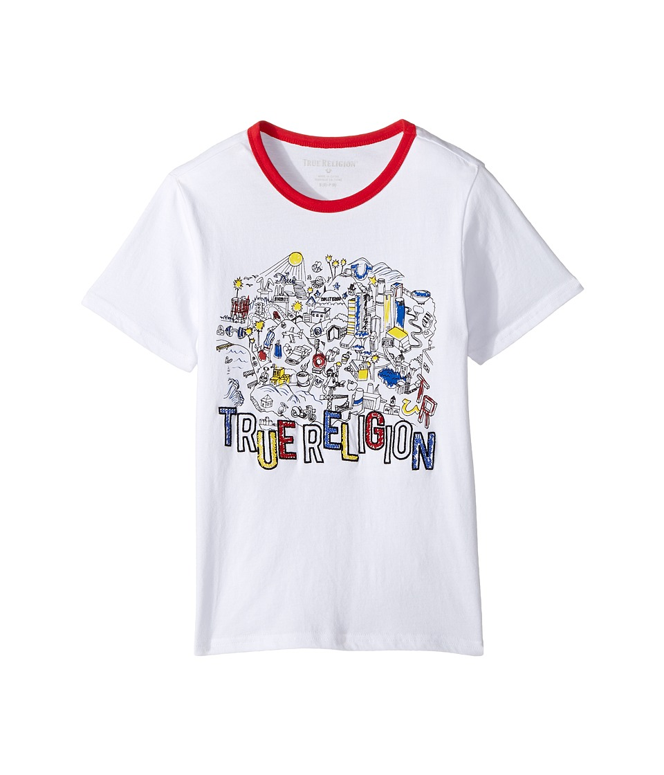 True Religion Kids - City Tee Shirt (Big Kids) (White) Boy's T Shirt