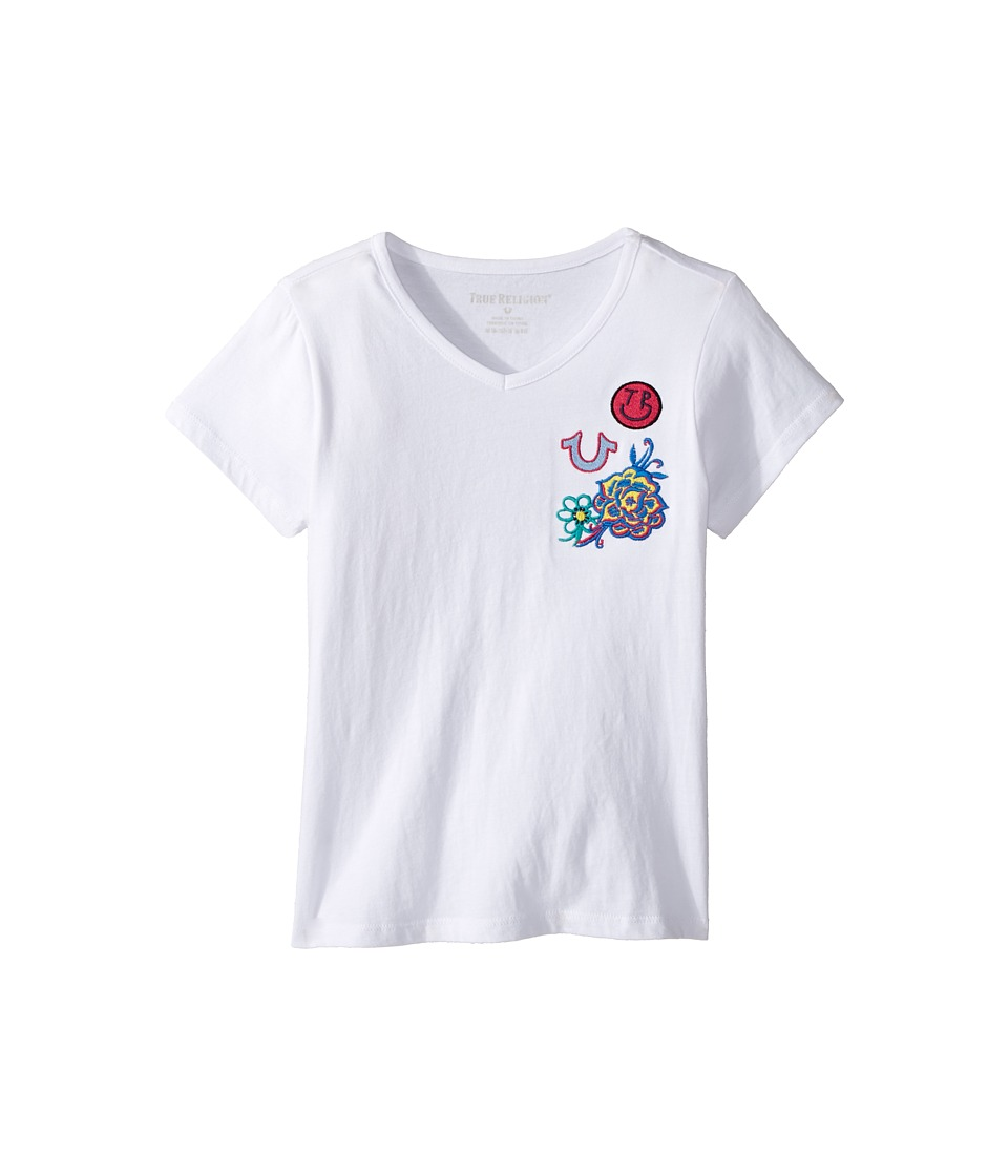 True Religion Kids - Patched Tee Shirt (Big Kids) (White) Girl's T Shirt