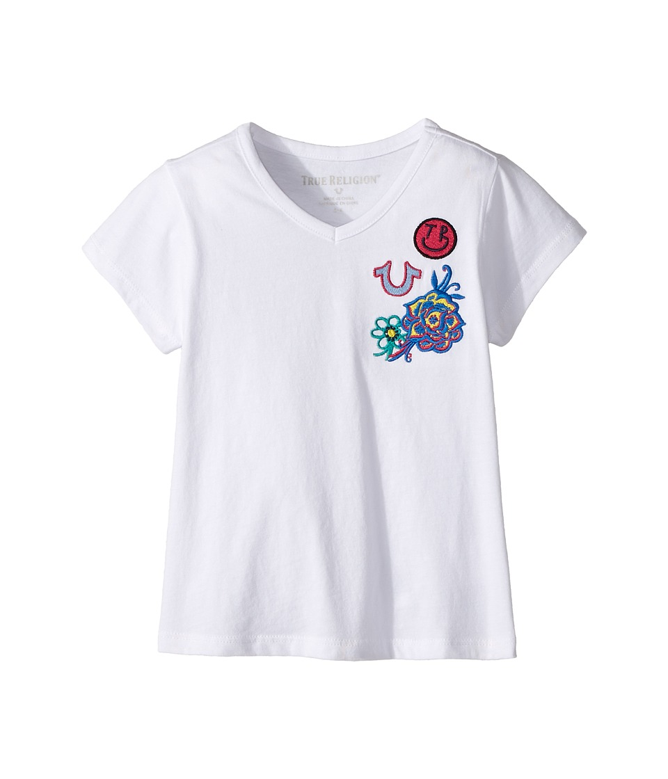 True Religion Kids - Patched Tee Shirt (Toddler/Little Kids) (White) Girl's T Shirt